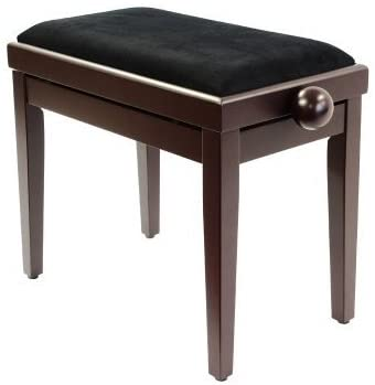 Legato Adjustable Height Cushioned Seat Piano Bench (Satin Rosewood)