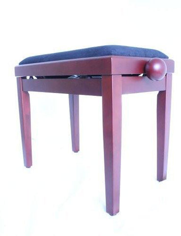 Legato Adjustable Wooden Piano Stool Comfortable Padded Seat Satin Mahogany - 1to1 Music
