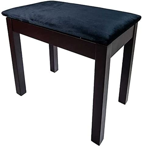 PRELUDE Piano Stool with Book Storage, Satin Rosewood