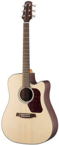 Walden Natura D560CE Solid Top Dreadnought Electro Acoustic Guitar Cutaway Nat - 1to1 Music