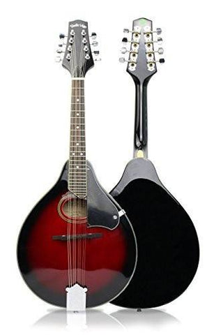 Clareen Banjos Ireland - 'The Bridge' Folk Bluegrass Mandolin - Cherry Sunburst with Leather Hard Case - 1to1 Music