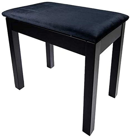 PRELUDE Piano Stool with Book Storage, Satin Black