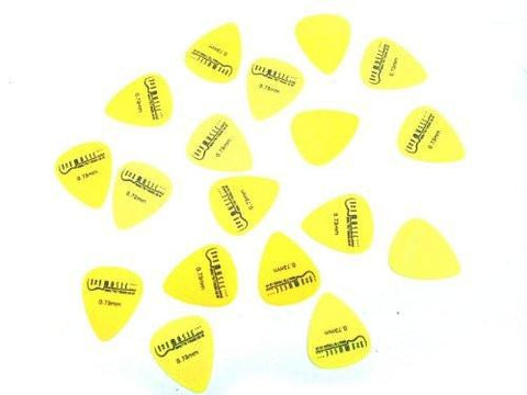 12 Yellow Nylon Guitar Plectrums Medium Gauge 0.73mm picks - Professional & PERFECT FOR ANY GUITAR - 1to1 Music