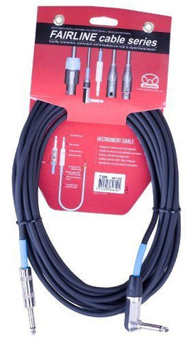 Superlux 7.5 Metre SFI7.5PR Right Angle Jack to Jack Instrument Cable - 1to1 Music