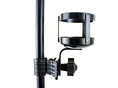 Black Cup Pint Beverage Holder Clamp for Music, Mic or Conductor Stand MHJJ12 - 1to1 Music