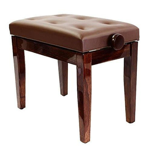 Prima Polished and Satin Adjustable Luxurious Piano Stool - 1to1 Music