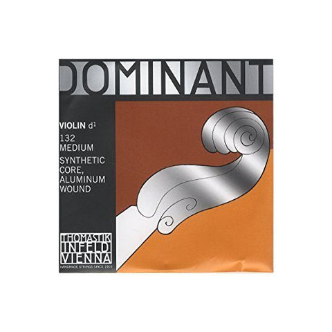Dominant Strings 132 4/4 Aluminium Wound Violin D String - 1to1 Music