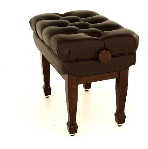 Maestro Adjustable Polished Walnut Piano Stool with Real Leather - FS606PWL - 1to1 Music