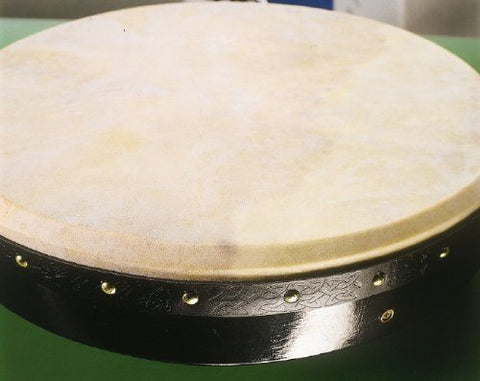 "Waltons 18"" Pro Deluxe Bodhrán in Black - 1to1 Music"