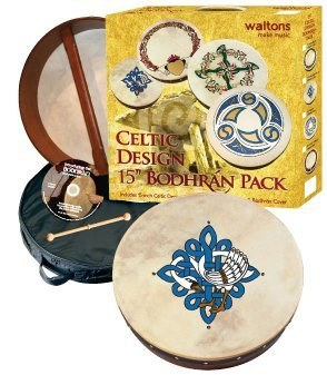 "WALTONS PACK 15"" CHILDREN OF LIR Irish Bodhran - Gift Set - 1to1 Music"