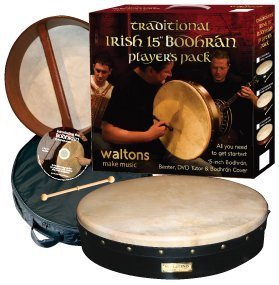 "Waltons Traditional Pack 15"" Classic Black Bodhran - 1to1 Music"
