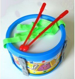 Toy Mini Marching Drum + Sticks and Strap Kids Percussion for children - 1to1 Music