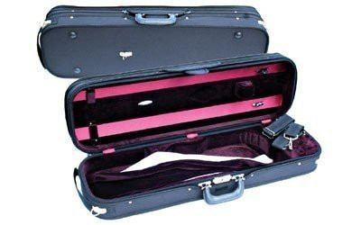 Concord Oblong Violin Case full size 4/4, Black and Burgundy - 1to1 Music