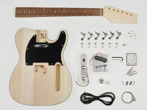Telecaster Style Style Guitar Assembly Kit - Basswood Body - 22 Frets - Bolt On Neck (KIT-TE-10) - 1to1 Music