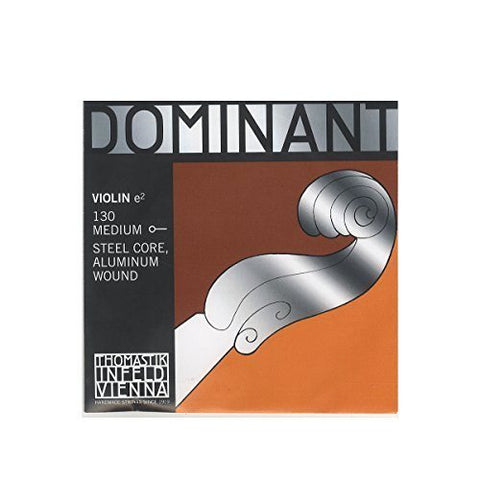 Dominant Strings 130 4/4 Aluminium Wound Ball Violin E String - 1to1 Music
