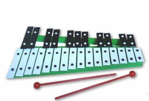ProKussion Green27V 27 Key Chromatic Glockenspiel Xylophone with Free Beaters - Green - 1to1 Music