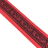 Handmade Irish Celtic Hemp Guitar Strap by VTAR, Vegan Bass, Acoustic, Electric (Red Hemp)