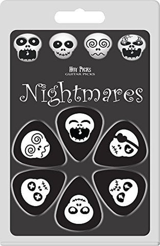 Guitar Plectrum Pack - Nightmares Design  - 6 Picks - 1to1 Music