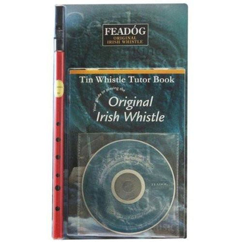 Feadóg Red D Whistle with Book & CD - 1to1 Music
