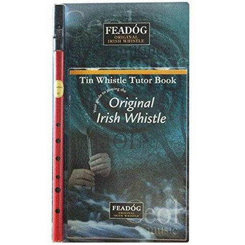 Feadóg Red D Whistle with Tutor Book - 1to1 Music
