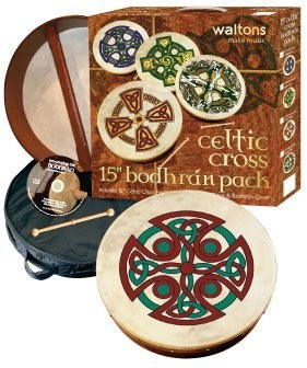 "WALTONS PACK 18"" CAREW CROSS Irish Bodhran - Gift Set - 1to1 Music"