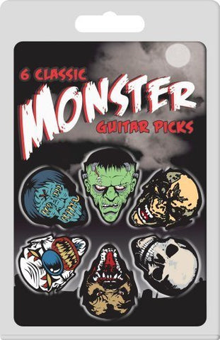 Guitar Plectrum Pack - Monster Design  - 6 Picks - 1to1 Music