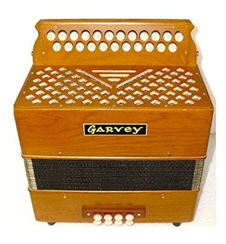 Garvey TAM 2 23 Button Bass Accordion - Tipo A Mano Reeds - Includes Shoulder Straps - 1to1 Music
