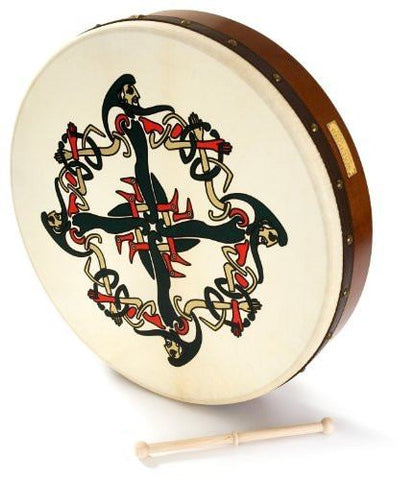 Waltons - Bodhrán - 18 Inches / 45.72 cm - With Clonmacnoise Motif - 1to1 Music