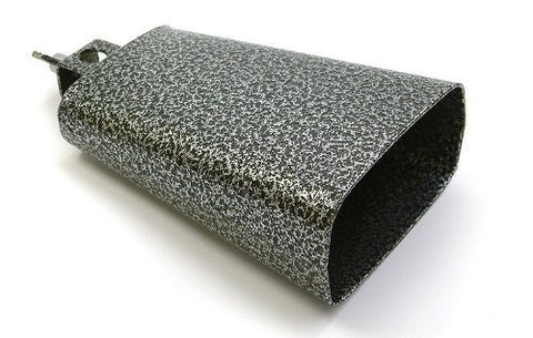 Drum Mountable Cowbell/Cow Bell - Heavy Duty Black Mottled Effect, in 5 sizes - 1to1 Music