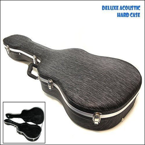 Deluxe Acoustic Guitar Hardcase with Soft Interior - 1to1 Music