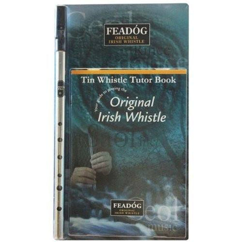 Feadóg Pro D Irish Whistle with Easy to Follow Tutor Book containing Fun and Easy Songs to Learn for All Ages - 1to1 Music