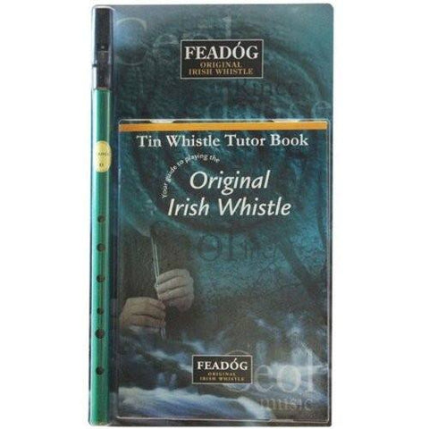 Feadóg Green D Whistle with Tutor Book - 1to1 Music