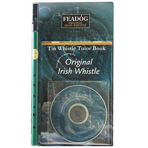 Green Feadóg D Whistle with Book & CD - 1to1 Music