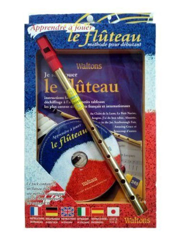 Fluteau Methode pour Debutant Bk/CD/Flute Fr/Eng/Ger/Esp/It - 1to1 Music