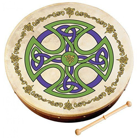 "WALTONS PACK 15"" BROSNA CROSS Irish Bodhran - Gift Set - 1to1 Music"