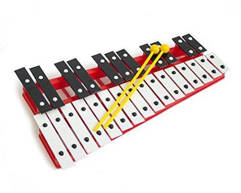 ProKussion Red27V 27 Key Chromatic Glockenspiel - Red - 1to1 Music