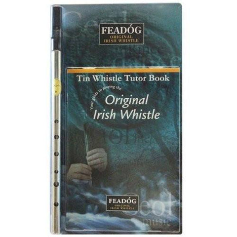 Feadóg Nickel D Whistle for All Ages with Easy To Follow Tutor Book with Simple to Learn Songs - 1to1 Music