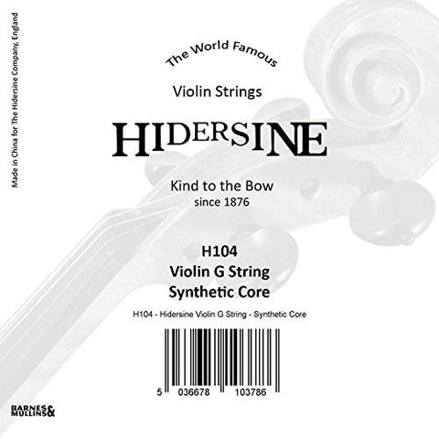 Hidersine Strings Violin G String Synthetic core - 1to1 Music