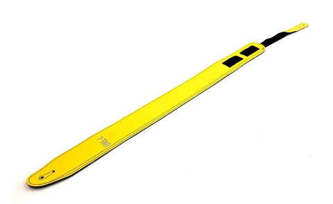 VTAR Vegan Faux Leather Guitar Straps (Primary Series) Acoustic Bass Electric (Yellow)