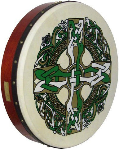 Waltons Bodhran Drum - Celtic Cross - 1to1 Music