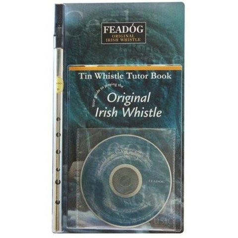 Feadóg Nickel D Tin Whistle with Book & CD - 1to1 Music