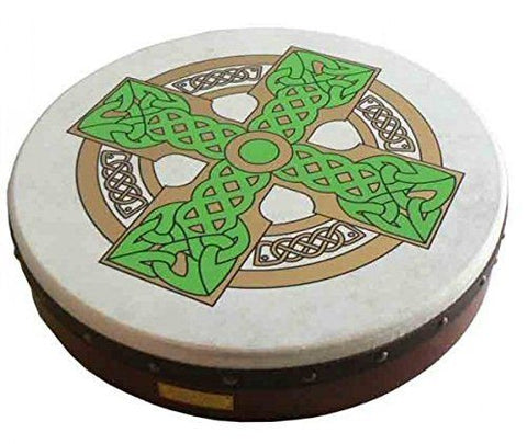 "WALTONS 15"" CLOGHAN CROSS Irish Bodhran Gift Pack Set - 1to1 Music"