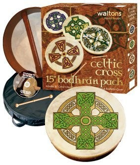 "WALTONS PACK 18"" CLOGHAN CROSS Irish Bodhran - Gift Set - 1to1 Music"