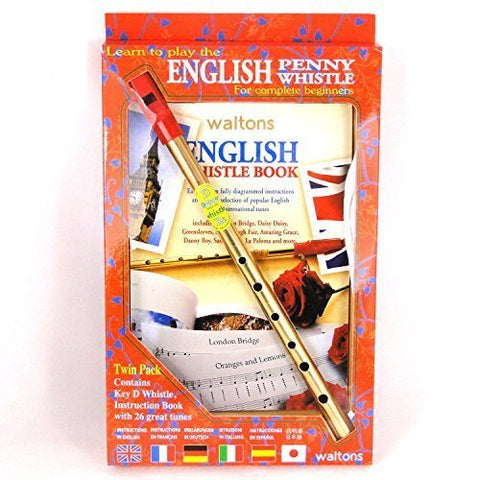 English Tin Whistle Twin D Pack - 1to1 Music