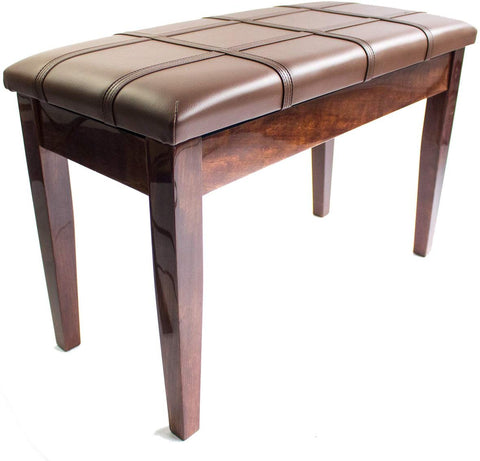 Dolce Piano Stool with Book Storage - Polished Walnut - 1to1 Music