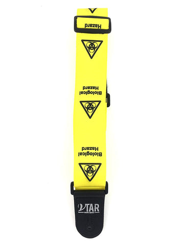 Vtar Vegan Bio Hazard Danger Series Acoustic Electric Guitar Strap with Adjustable Length (Free Plectrums)