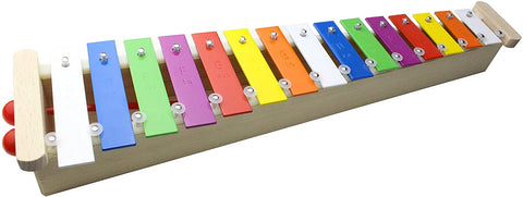 ProKussion Soprano Glockenspiel Xylophone with Removable Keys - Wood base