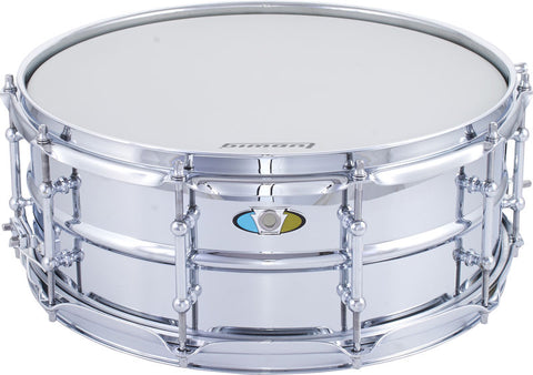 "Ludwig LW5514SL 5.5"" x 14"" Supralite Steel Shell Snare Drum - 1to1 Music"