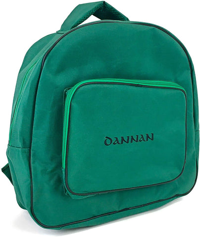 "Deluxe Dannan Padded Bodhran Case Bag with Shoulder Straps and Storage Pocket 16"" (Green)) - 1to1 Music"
