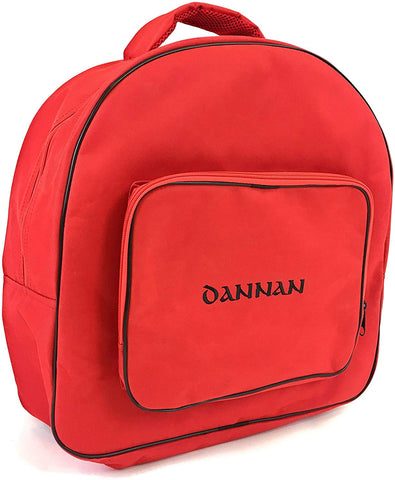 "Deluxe Dannan Padded Bodhran Case Bag with Shoulder Straps and Storage Pocket 16"" (RED)) - 1to1 Music"